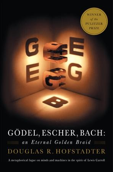 """Cover of Douglas Hofstadter's """"Godel, Escher, Bach"""""""