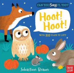 Can you say it, too? : hoot! hoot! : with big flaps to lift - Sebastien Braun