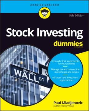 Stock Investing for dummies - Paul Mladjenovic