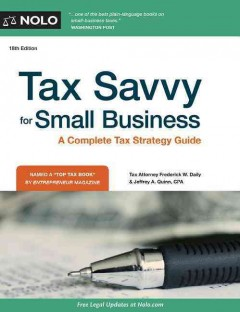 Tax savvy for small business - Frederick W Daily