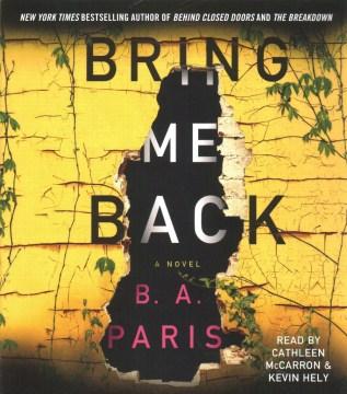 Bring me back - B. A Paris