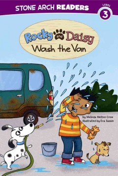 Rocky and Daisy wash the van - Melinda Melton Crow
