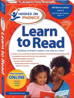 Hooked on phonics. Learn to read, Pre-K, level 2, ages 3-4.