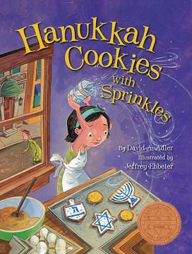 Hanukkah cookies with sprinkles - David A Adler