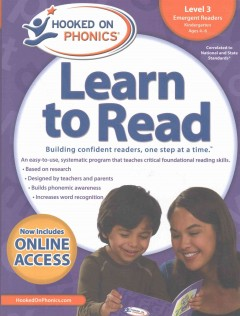 Hooked on phonics. Learn to read, Emergent readers, level 4, Kindergarten, ages 4-6.