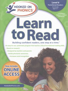 Hooked on phonics. Learn to read, Transitional readers, Level 6, First grade, ages 6-7.