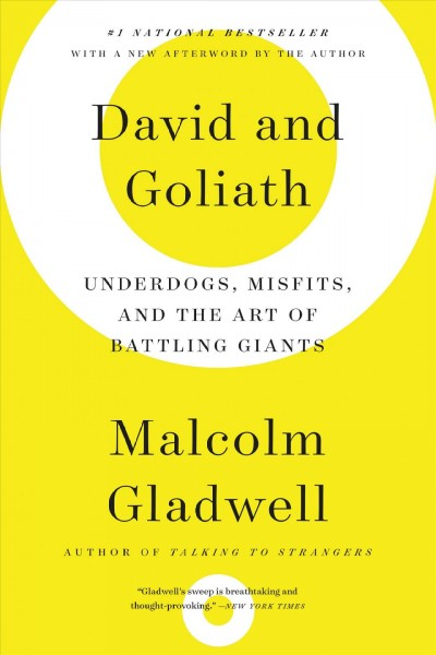Cover: 'David and Goliath: Underdogs, Misfits, and the Art of Battling Giants'
