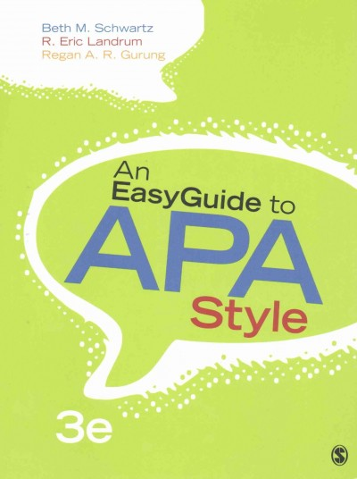 Preview of the Cover of An EasyGuide to APA Style