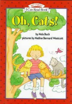 Bookjacket for  Oh, cats!