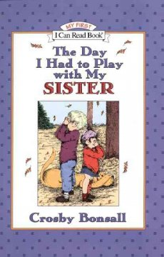 Bookjacket for The day I had to play with my sister