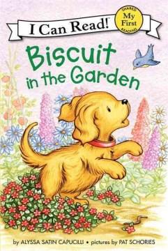 Bookjacket for  Biscuit in the garden