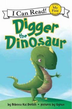 Bookjacket for  Digger the Dinosaur