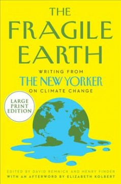 bookjacket for The fragile earth [large print]