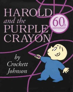 Bookjacket for  Harold and the Purple Crayon