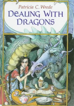 Bookjacket for  Dealing with Dragons