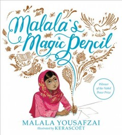 Bookjacket for  Malala's magic pencil