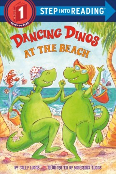 Bookjacket for  Dancing Dinos at the Beach