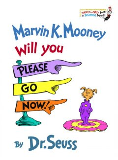 Bookjacket for  Marvin K. Mooney, will you please go now!
