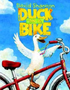 Bookjacket for  Duck on a Bike.