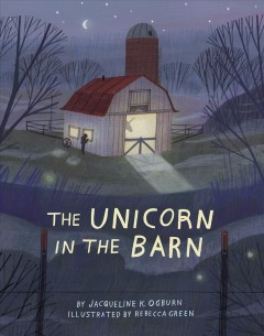 Bookjacket for The Unicorn in the barn