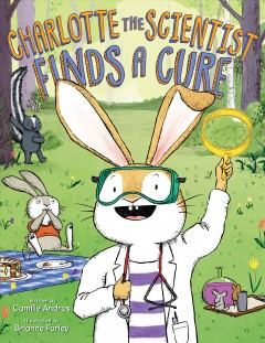 Bookjacket for  Charlotte the scientist finds a cure