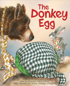 Bookjacket for The Donkey egg