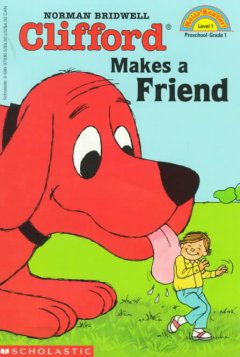 Bookjacket for  Clifford makes a friend