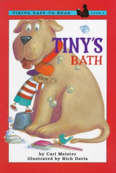 Bookjacket for  Tiny's bath