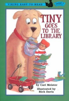 Bookjacket for  Tiny goes to the library