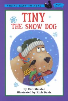 Bookjacket for  Tiny the snow dog