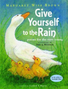 Bookjacket for  Give yourself to the rain
