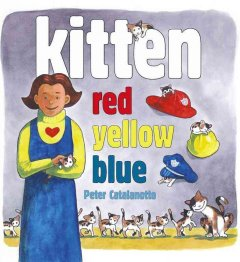 Bookjacket for  Kitten Red, Yellow, Blue