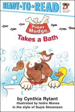 Bookjacket for  Puppy Mudge takes a bath