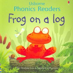 Bookjacket for  Frog on a log