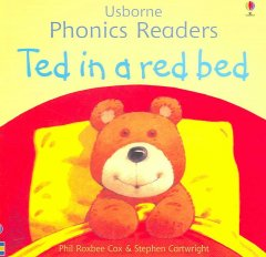 Bookjacket for  Ted in a red bed