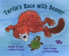 Bookjacket for  Turtle's race with Beaver
