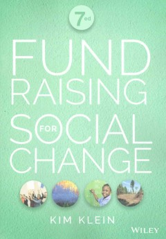 Bookjacket for  Fundraising for social change