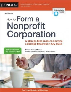 Bookjacket for  How to Form a Nonprofit Corporation