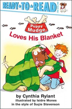 Bookjacket for  Puppy Mudge loves his blanket