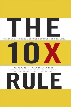 Bookjacket for The 10x rule