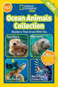 Bookjacket for  Ocean animals collection