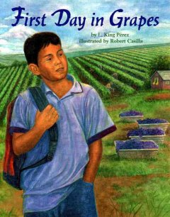 Bookjacket for  First day in grapes