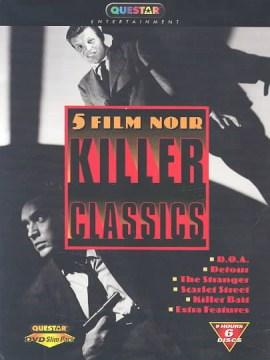 bookjacket for 5 film noir killer classics