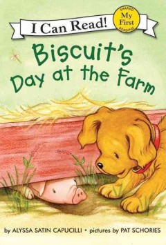 Bookjacket for  Biscuit's day at the farm