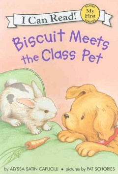 Bookjacket for  Biscuit meets the class pet
