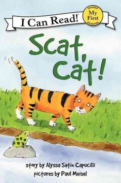 Bookjacket for  Scat, cat!