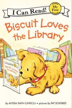 Bookjacket for  Biscuit loves the library
