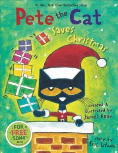Bookjacket for  Pete the cat saves Christmas