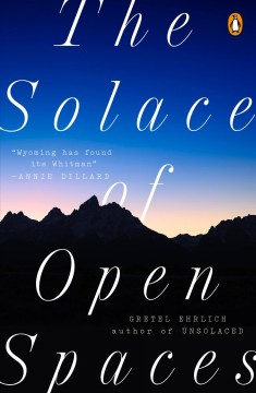Bookjacket for The solace of open spaces