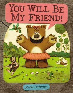 Bookjacket for  You will be my friend!